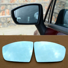 Savanini 2pcs New Power Heated w/Turn Signal Side View Mirror Blue Glasses For Ford Escape Ecosport(China)