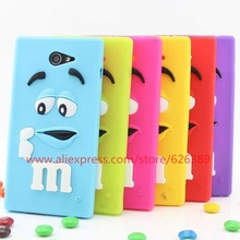 For Sony Xperia M2 Case New M&M's Chocolate Candy Soft Silicone Mobile Phone Cases For Sony M2 S50h