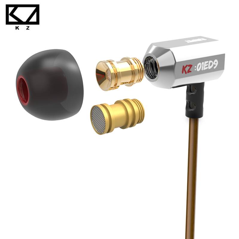 Super Bass KZ ED9 Tuning Nozzles Earphone Metal In Ear Monitors Earphones with Mic Noise Isolating for Mp4 Music player pk Ie800<br><br>Aliexpress
