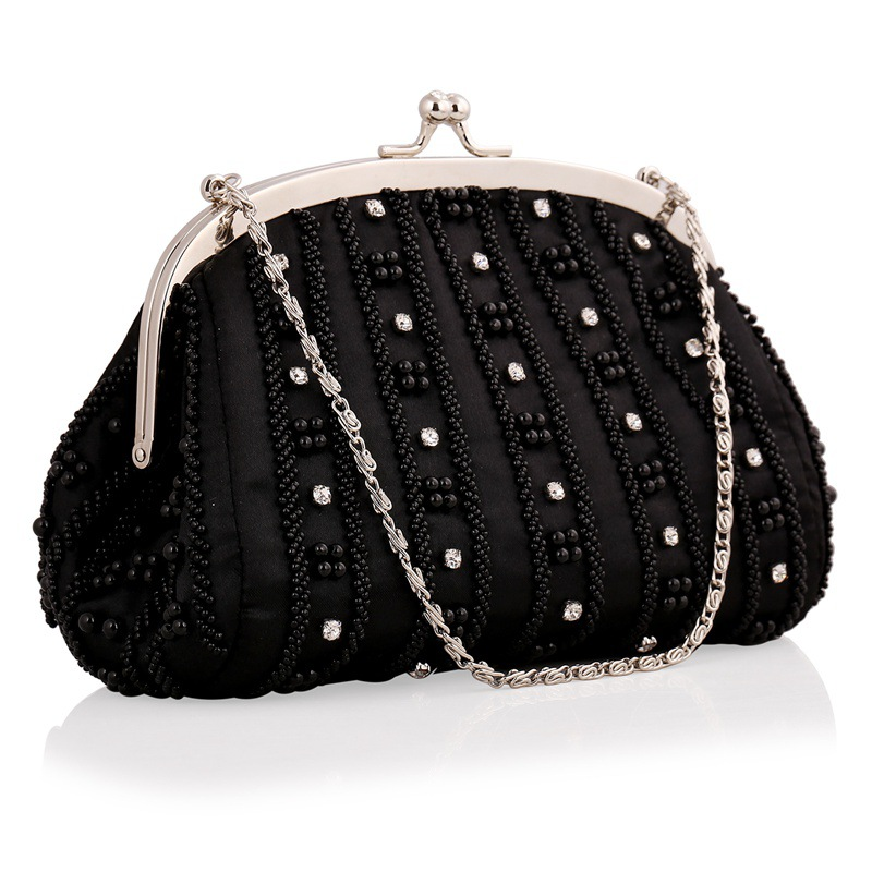 In 2017 the new Beaded Embroidery Evening Bags diamond-encrusted  dress hand handbags clutch bag shoulder bag<br><br>Aliexpress