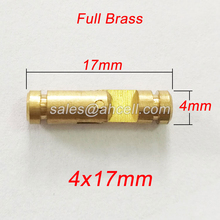 10pcs CH4x17mm miniature barrel-hinge gift case barrel mini jewelry wood box invisible concealed insert brass cylindrical hinge(China)