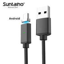 Suntaiho Magnetic Charger Micro USB Cable Redmi Note 5A Data Sync Fast Charging Cable Samsung Galaxy C5 S7 Huawei Cable