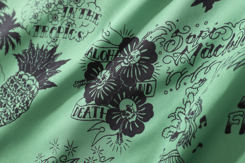 Graffiti Flamingo Palm Tree Pineapple Skull Print Shirts 8