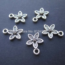 (20 pieces /lot) 10.6mm Mental Flower  Anti-silver Color zinc alloy Pendant  jewelry findings for jewelry making