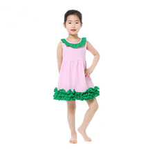 New Arrival Baby Girls Clothes Ruffle Cotton Sleeveless Collar Girls Dresses Smock Birthday Girls Outfit Cute Toddler Dress