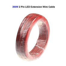 300M 22AWG 2 Pin LED Extension Wire Connector Cable Cord For SMD 3528 5050 5730 5630 LED Strip(China)
