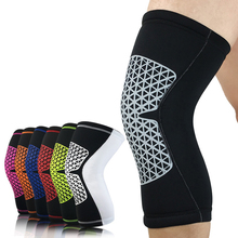 1Pcs Sports Safety Kneepad Spandex Knee Pad For Basketball Badminton Running Fitness Knee Support Brace Sleeve 7 Colors(China)