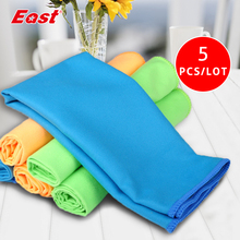 East 5 Pcs 30CM X 40CM Microfiber Cloth Set Two-faced Plush Cleaning Cloth Wiping Dust Rugs Car Care Home Cleaning Towel(China)