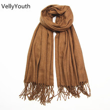 VellyYouth Scarves Women 2017 New Lamb Wool Scarf for Women Wool Pashmina Winter Spring Long Women Scarf Shawls Female 180cm*65c(China)