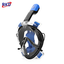RKD Detachable Diving Mask Anti-fog Dry Snorkel Full Face Scuba Mask Set Underwater Snorkelling Mask for Water Sports