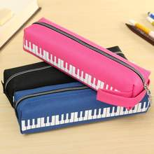 Porable Home Sundries Pouch Bag Cloth Musical Piano Keyboard Storage Bags Stationery Mini Pencil Pen Eraser Ruler Bag Holder