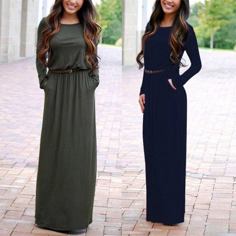 Длинное Платье На Осень Купить