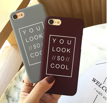 Buy AIBOR Fashion Letter Phone Cases iphone 8 7 Plus iphone 6 6S Plus 5 5S SE Matte Hard Back Cover Funda Capa Look Cool for $1.28 in AliExpress store