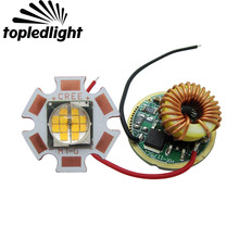 Topledlight Customize 24W 6V Cree MTG MT-G Easy White Led Emitter Lamp Light Warm White 2700K + 5 Mode 6V Led Driver
