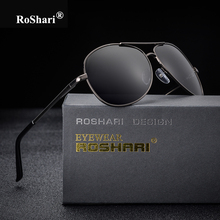 RoShari Vintage Driving Polarized Sunglasses women men brand designer blacks glasses aviator Sun glasses men gafas oculos de sol