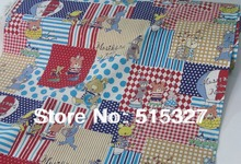 50cm*110cm Japanese KOKKA Quilting Cloth DIY Patchwork Fabric Linen Fabric  Music Night