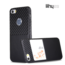 Whyes For Apple iphone SE Case iphone 5S Case Carbon Fiber PU Leather Case For iphone 5 Slim Soft Card Slot Full Protection(China)