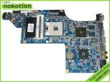 NOKOTION Hot sale 603643-001 laptop motherboard for HP DV6-4000 HM55 Fully tested Mainboard Mother Boards DA0LX6MB6F2(China)