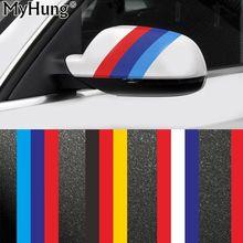 Car Styling 200CM*15CM DIY Decal Wrap Car Body Stickers Italy France Germany Flag Film Accessories Audi Bmw VW Hyundai Ford