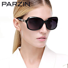Parzin Polarized Sunglasses Women Bamboo Design Women's Sun Glasses Fashion Shades Female Driving Glasses Black With Case 9502(China)