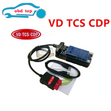 3PCS obd2 Diagnostic tool blue pcb boards black vd Tcs cdp pro plus no bluetooth with 2015r3 keygen(China)