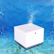 Portable Mini Square USB Air Humidifier Blue LED Night Light Mute Diffuser Home Office Cool Mist Maker Fogger Humidifiers