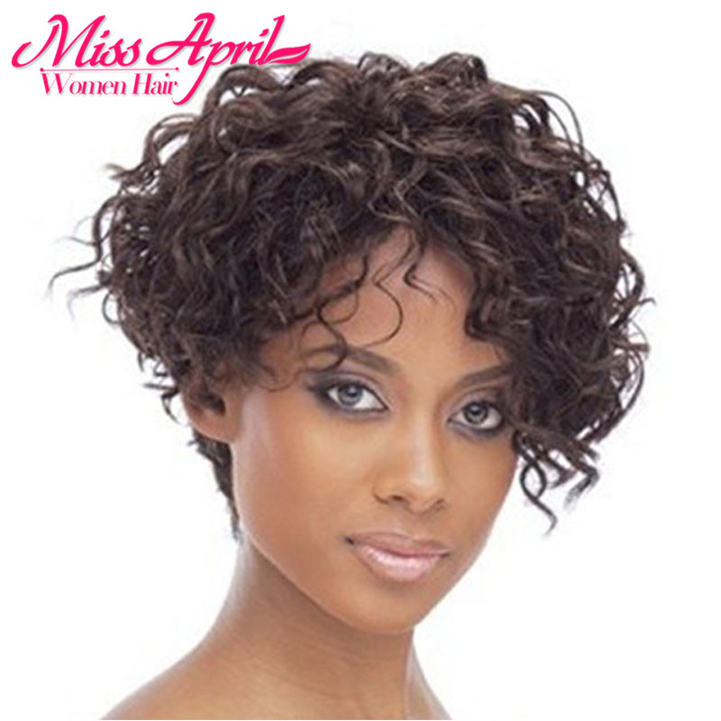 Free Shipping Women Ladys Cheap Short Black Curly Hair Wig Heat Resistant Synthetic Hair wig perruque lolita wig + Wig Net Gift<br><br>Aliexpress