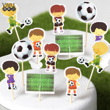 72pcs Cool Football sports boys Theme Party Supplies Cartoon Cupcake Toppers Pick Kid Birthday wedding Party Decorations