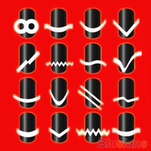 2016 Designed New 2Pcs Chic  18 Styles French Manicure Nail Art  Salon Tips Tape Stickers  Guide  DIY Stencil Decorations 8LDS