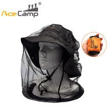 AceCamp Fishing Caps Mosquitoes Head Net Insect Resistant Mask Face Protector Outdoor Sports Travel Caming Caps Hat