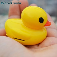 Waterlowrie mini Music MP3 Fortune Yellow duck mp 3 Music Player Support 8G TF Card Mini MP 3 Player usb mp3 for Child Gift(China)