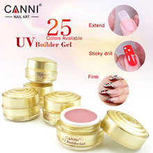 CANNI Jelly Builder Gel 15ml High Viscosity Semi-Transparent Clear Camouflage 25 Colors 50951 Nail Building Extending UV Gel