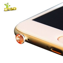 Universal Bling Rhinestone Style Protect Phone Earphone Dustproof Plug Anti Dust For iPhone For Samsung For Xiaomi For Huawei