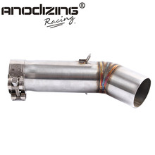 Motorcycle Exhaust middle pipe for SUZUKI GSXR600 GSXR 600  k8 2008 Slip-On