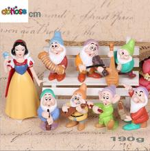 Cartoon Princess Snow white and Seven Dwarfs PVC Action Figure Collection Model Kids Toy Doll 8PCS/SET Cake Decoration