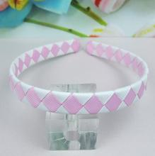 Free shipping 100pcs/lot Braided Ribbon Woven Headband 13cm ABS Headband