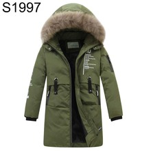 High Quality Big Boys Long Duck Down Jackets 2017 Childrens Large Fur Collar Hooded Coats Parkas Kids Thick Warm Coats Clothes