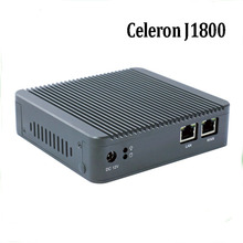 Newest Mini PC Computer Celeron J1800 2.41GHz Dual Lan Industrial PC Thin Client No Fan Design Micro PC 1*VGA 2*NIC Windows7 OS