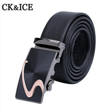 Belt 2017 New Arrival Men Automatic Buckle Brand Leather Belts For Business boss Men High Quality Luxury Cinturones Hombre