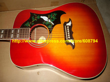 Custom Cherry burst DOVE Acoustic Guitar IN STOCK China guitar Every day favorable, double 11 every day Free shipping