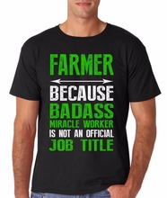 Hot 2017 Fashion Casual Cotton Short Sleeve T shirt Print Farmer Farming Occupation Funny Novelty Gift Ideas For Mensuper Tee
