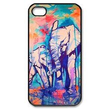 2015 Authentic Elephant Background pattern Hard mobile Case Cover for iPhone 4s 5s 5c 6 6 plus