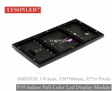 LYSONLED 320x160mm Indoor SMD3528 P10 Led Module,1/8 Scan P10 Indoor LED Module SMD Rgb Led Video Display Panel 32x16 Dots