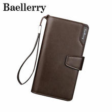 Baellerry Fashion Men Wallets Casual Wallet Men Purse Clutch Bag Brand Leather Long Wallet Design Hand Bags For Men Purse DB5715(China)