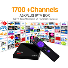 Android 7.1 TV Box 60 Bit WiFi 4K H.265 Media Player European IPTV Set Top Box with French Italy UK Germany Sweden IPTV Top Box