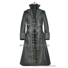 Once Upon A Time (season 3) Cosplay Captain Hook Killian Jones Costume Trench Coat Halloween Fashion Party Fast Shipping