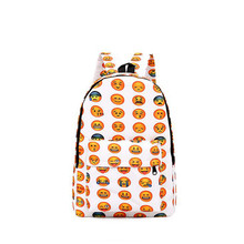 TMBODKorean Emoji Oxford cloth bag QQ smiling expression, male and female students in large capacity Backpack.y347