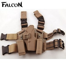 Sand Color and black Military Tactical HOLSTER SET GLOCK 17 19 22 23 31 32 Drop Leg GLOCK holster(China)