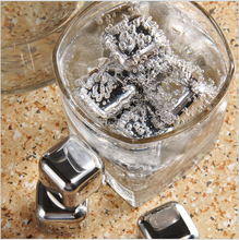 Hot Sale Convenient Whiskey Wine Beer Stones Stainless Steel Cooler Stone Ice Cube Chiller Stone