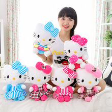 New Hot 30cm Stuffed Hello Kitty Plush Toys Kawaii Dress Angel Kitten Cat Soft Toy Quality Children Kids Girls Birthday Gifts